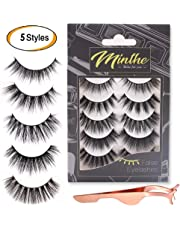 6a07058797b MINTHE 5 style 5 pairs faux 3D Mink lashes multipack with an eyelash  applicator tool.