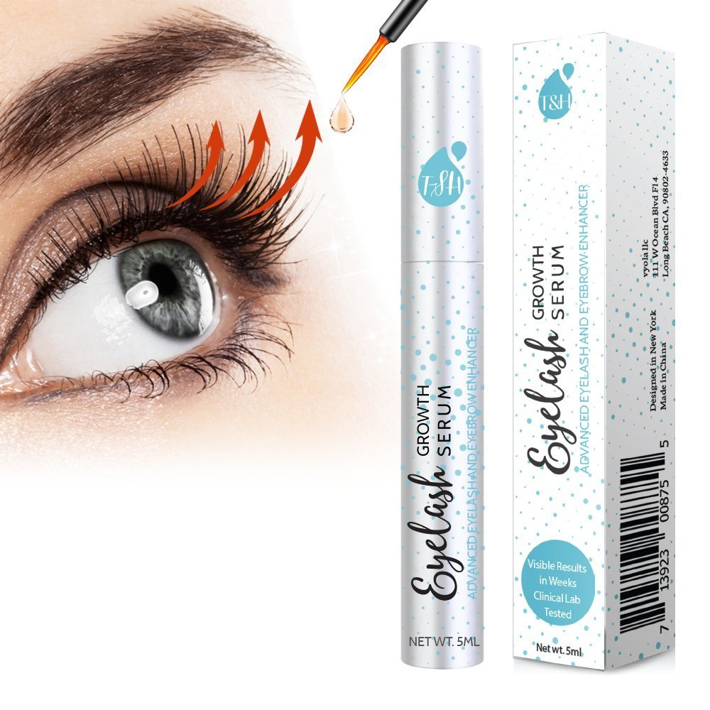 95de768cd1c Amazon.com: Eyelash & Eyebrow Growth Serum, Eyelash Enhancer Grows Longer,  Fuller, Thicker Lashes: Beauty