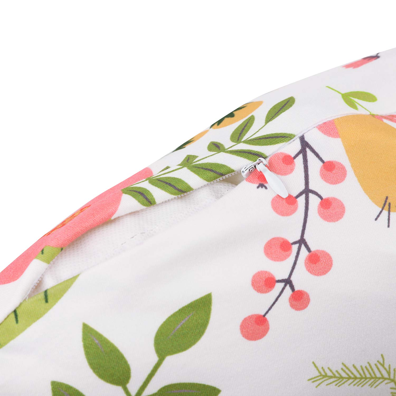 Vextronic Nursing Pillow Cover Breastfeeding Pillow Slipcover Girl and Boy,Ultra Soft Snug Fits On Infant Nursing Pillow,2 Pack Florida Flower
