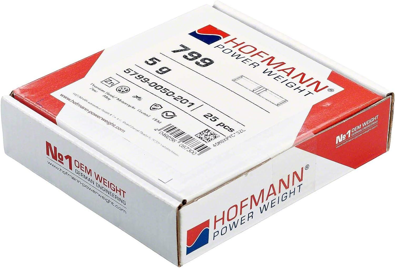 25x Klebegewicht Wuchtgewicht Motorrad Typ799 5g Hofmann Power Weight Auswuchtgewicht Klebegewicht Reifen Felgen Auto