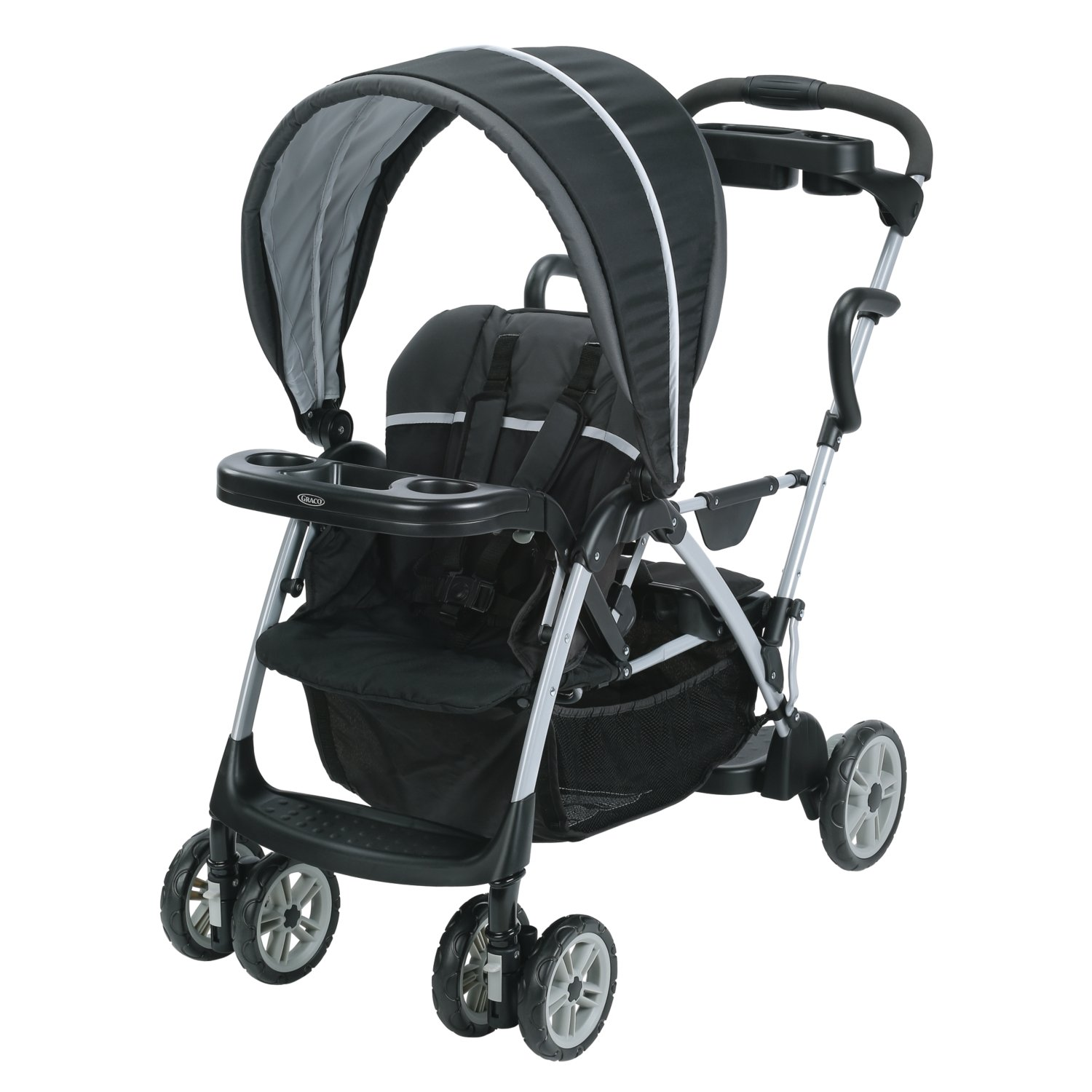 Graco-Roomfor2-Click-Connect-Stand-and-Ride-Stroller,-Gotham