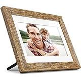 Aluratek (ADPFD10F) 10 inch Digital Photo Frame with Auto Slideshow, Distressed Wood Border, 1024 x 600, 16: 9 Aspect…