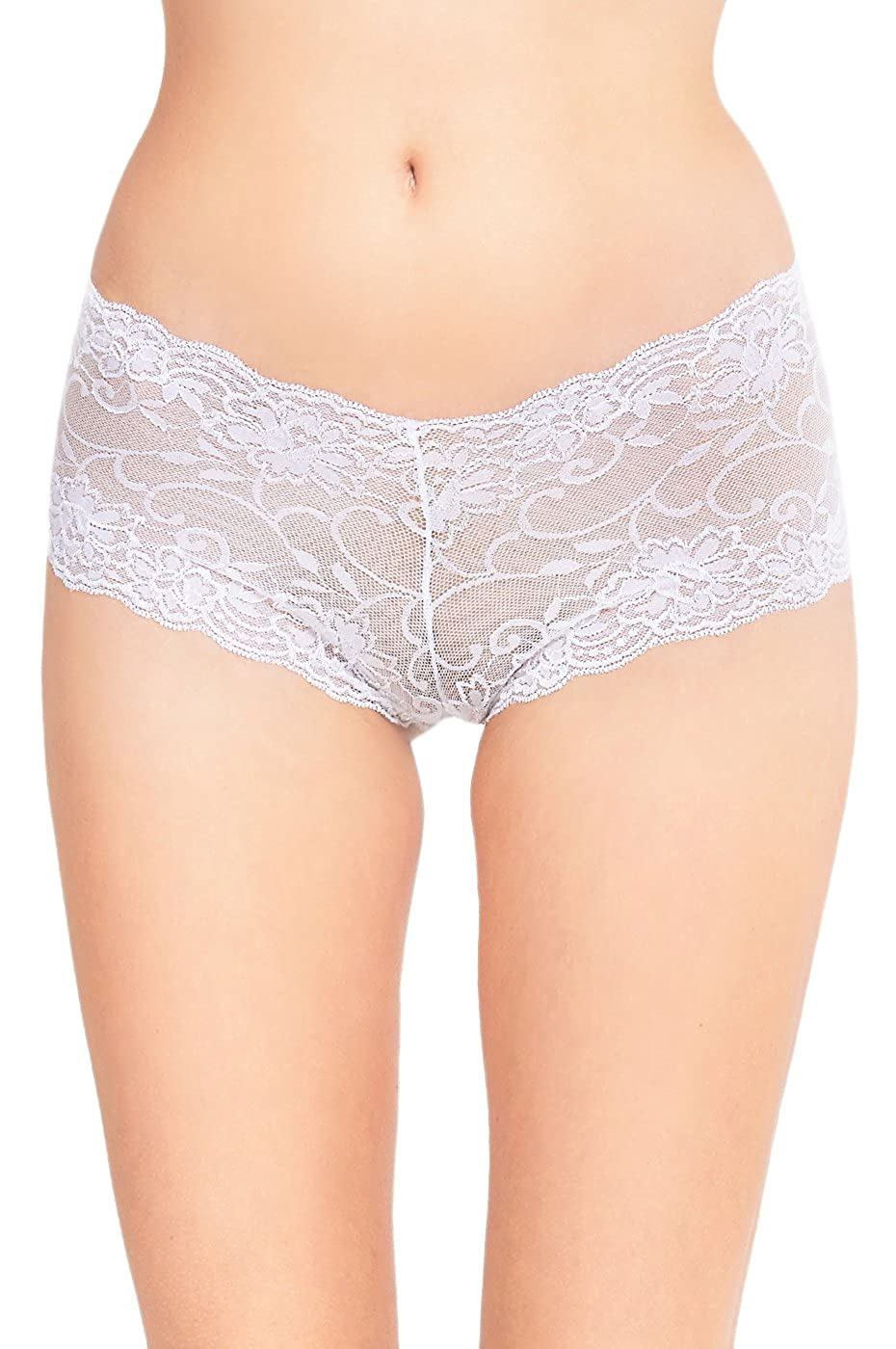 Women's Mid Rise Sheer Floral Lace Hipster Panty