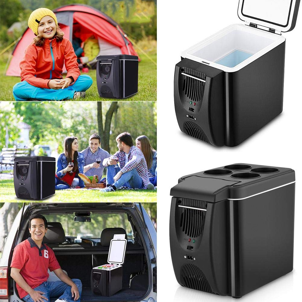 Electric Fridge Portable Icebox Travel Refrigerator 6L Mini Car Freezer Cooler /& Warmer 12V Refrigerator Freezer Heater