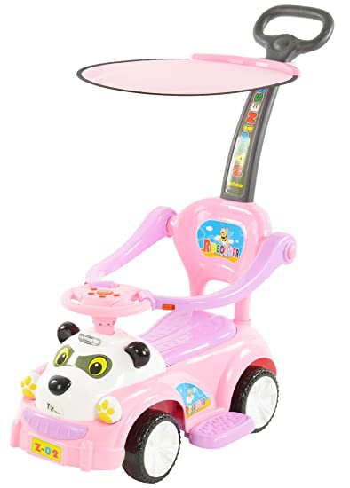 d3978cb6031 Buy Toyhouse Panda Ride On Push Car with Handle and Canopy, Pink Online at  Low Prices in India - Amazon.in