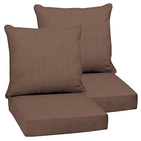 Amazon.com: Juego de 2 cojines de sillas de comedor para ...