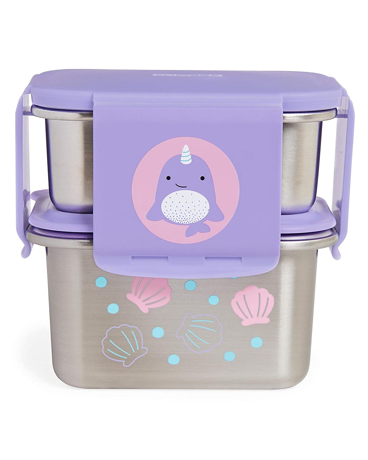 Skip Hop Stainless Steel Toddler Lunch Kit, Narwhal