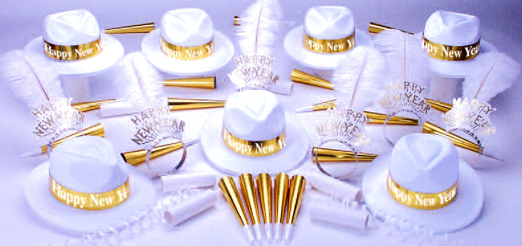 Gold Paradise Bay Party Kit w/Happy New Year for 50