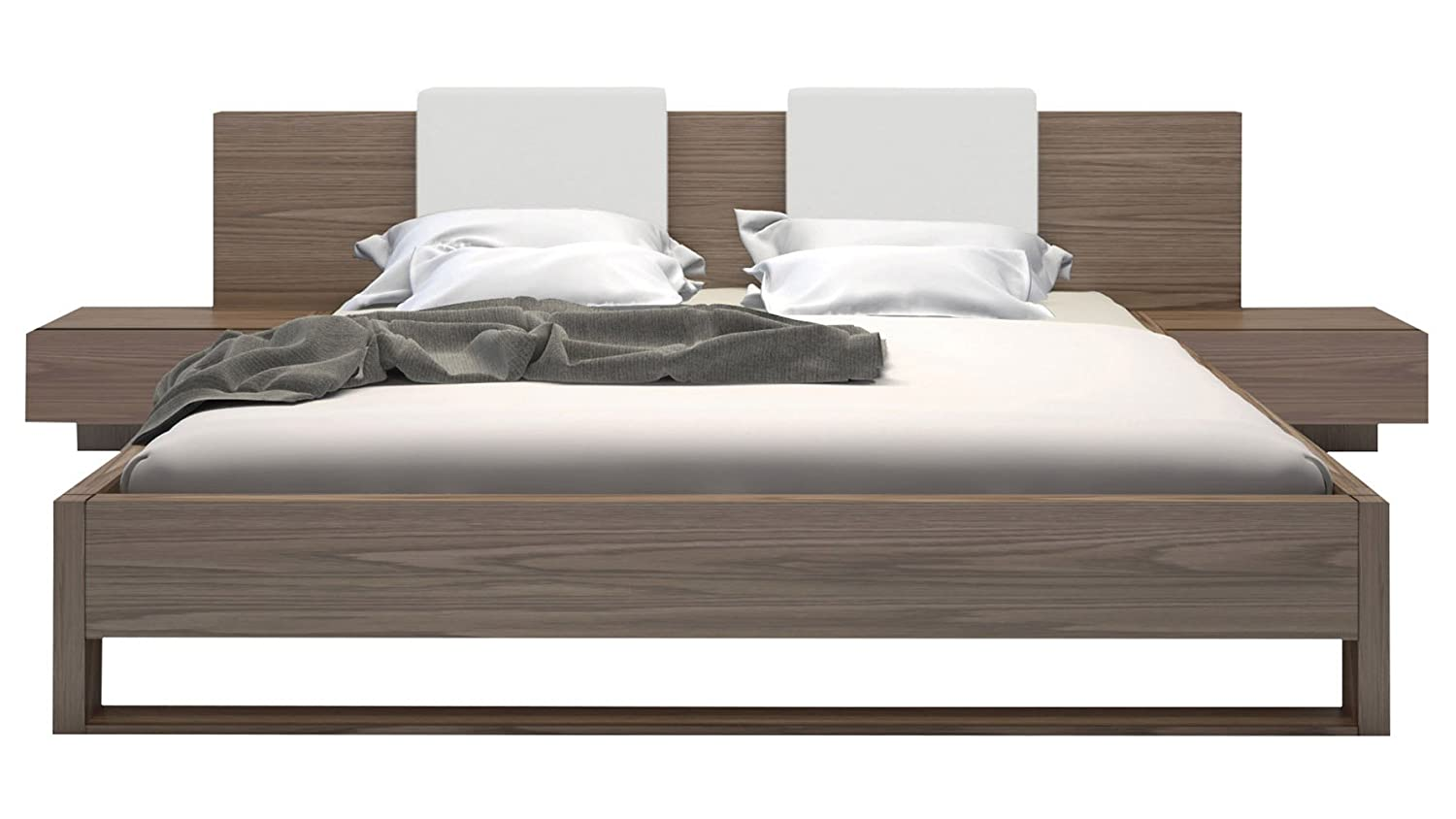 Viserys Cal King Platform Wooden Bed - Walnut