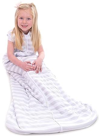 Snoozebag Baby Sleeping Bag Grey Stripe 100/% Cotton 2.5 Tog Unisex Nursery Front Zip 6-18 Months