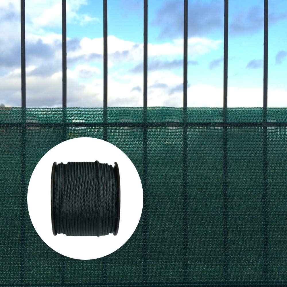 KLASEBO - Rete di Protezione da Vento e sguardi indiscreti, con Materiale di Fissaggio, 1,5 x 25 m