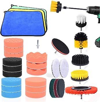 33PCS Car Foam Drill Polishing Pad Kit 3Inch Waxing Sponge Buffing Pads Tool Set