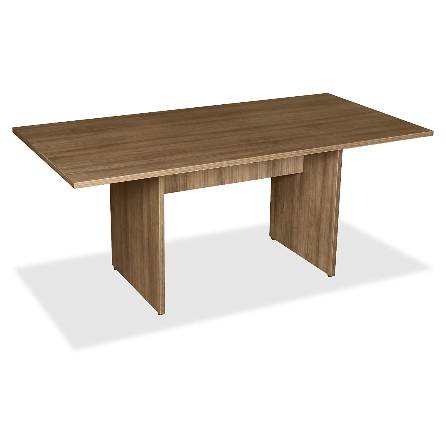 Lorell LLR69996 2-Panel Base Rectangular Walnut Conference Table-Table Top, Edge, 70.9 x35.4 x29-Material: MFC, Polyvinyl Chloride (PVC)-Finish: Walnut Laminate S.P. Richards CA