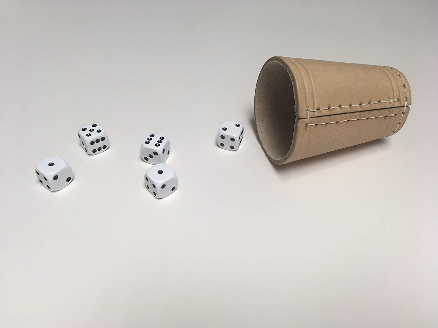 """Yacht Dice Game"" Leather Dice Cup with Five Dice David Westnedge"