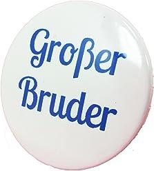 Großer Bruder Button - Anstecker Babyshower Mama Geschenk Geburt Birth Baby Boy 3,8 cm JGA