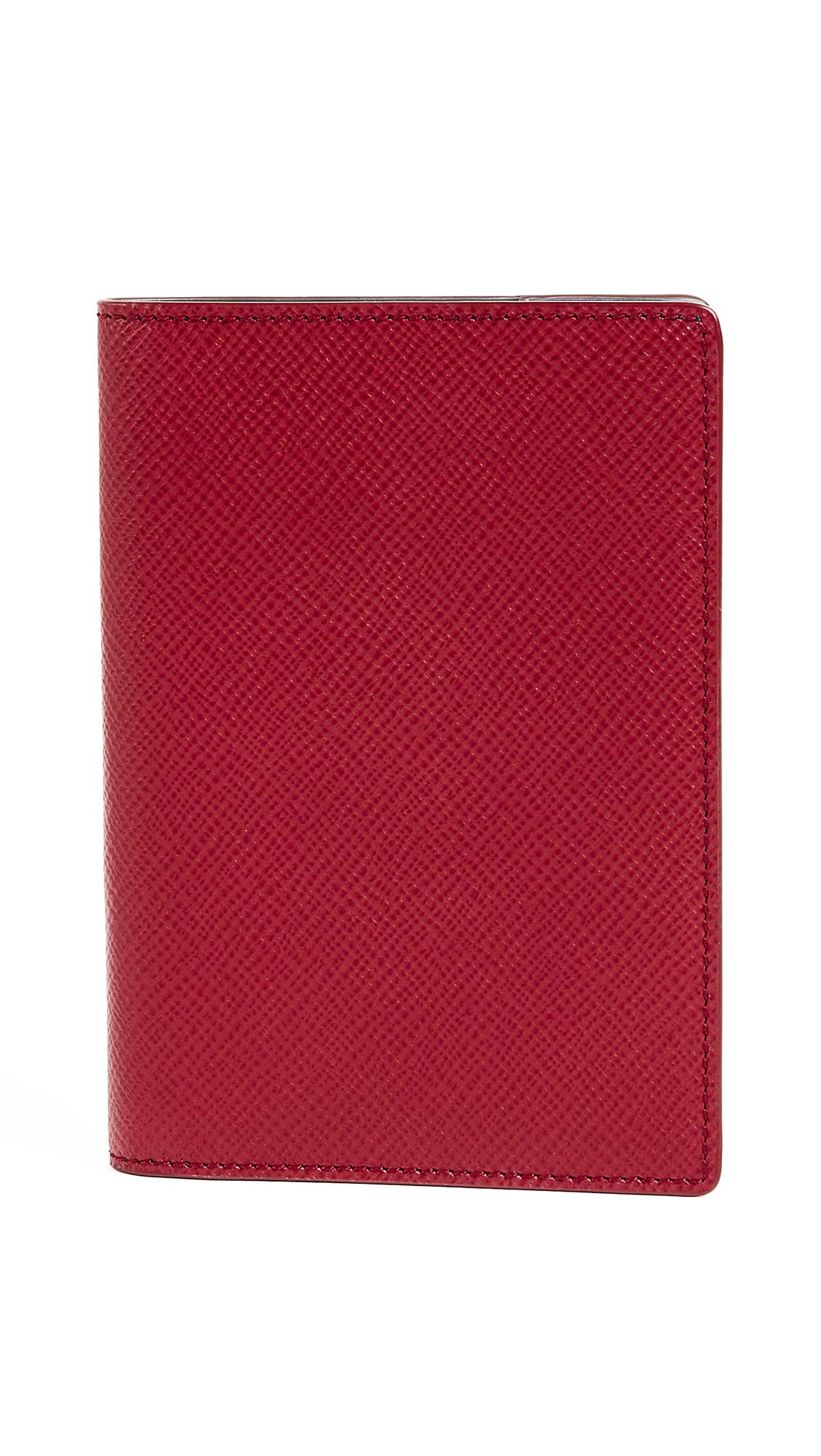Smythson Women's Panama Passport Cover, Red, One Size