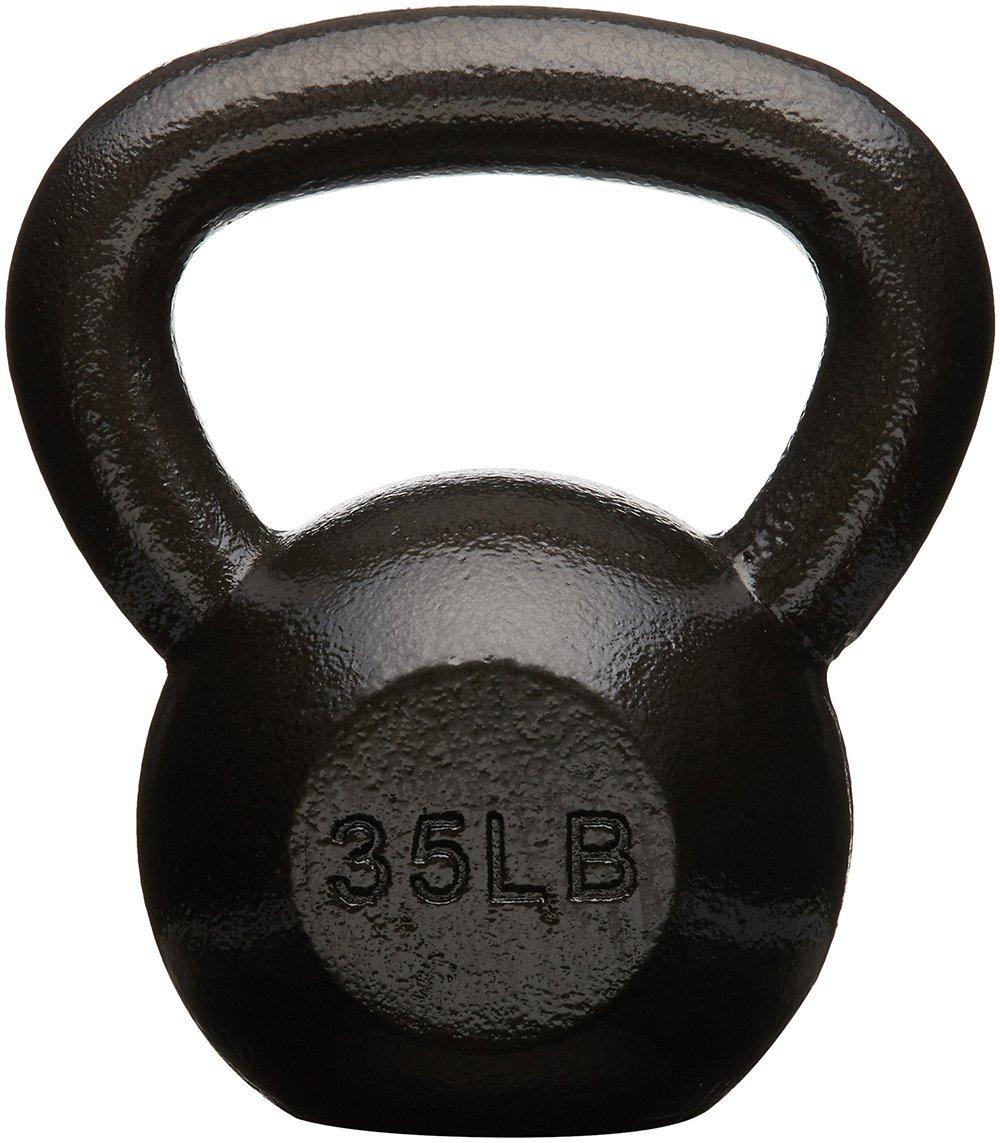 AmazonBasics Cast Iron Kettlebell, 35 lb