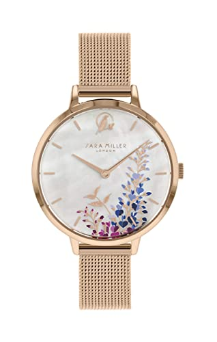 Sara Miller The Wisteria Collection SA4032 - Reloj con Correa de Malla bañada en Oro Rosa: Amazon.es: Relojes