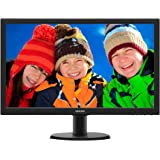 "Philips Monitor 243V5LHSB Gaming Monitor per PC Desktop 23.6"" LED Full HD, 1920 x 1080, 250 cd/m², 1 ms, HDMI, DVI, VGA, Attacco VESA, Nero"