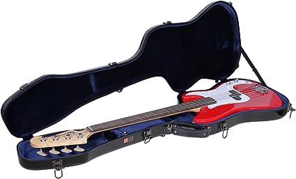 CRF2021BBK Crossrock Deluxe Fiberglass Case for Precision Bass Style Guitars