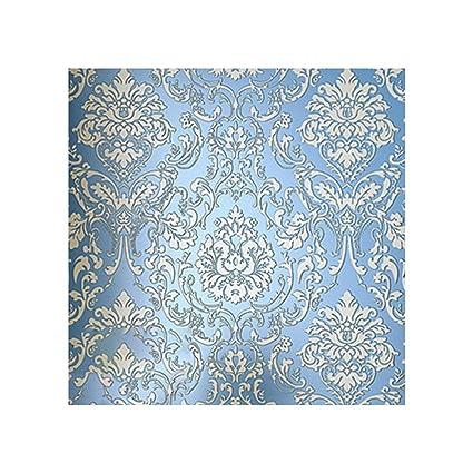 Amazon.com: HIFUAR 3D Damask Embossed Wallpaper Textured Non Woven ...