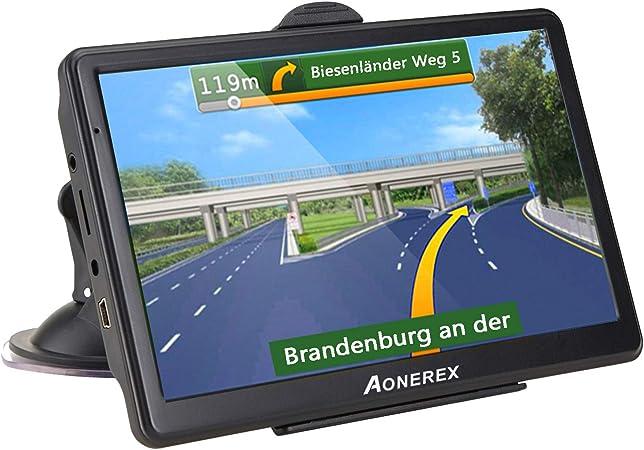 Aonerex Navigationsgerät 7 Zoll Gps Navi Navigation Resistivem Display Navigationssystem Mehrsprachig Für Auto Lkw Pkw Kfz 8gb 256mb Lebenslange Kartenupdates 52 Karten Für Europa Uk Navigation