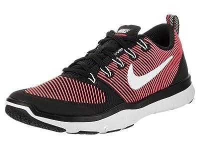 Nike Men's Free Train Versatility Black/White Action Red Training Shoe 8 Men  US