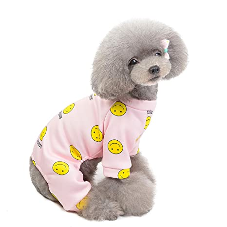 smalllee_lucky_store Pijama de Forro Polar para Perros ...