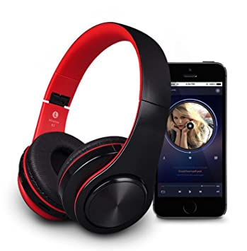 Hzhy Auriculares Auriculares con Bluetooth inalámbrico Teléfono Celular Música Plegable Running Subwoofer Auriculares estéreo Auriculares con Bluetooth ...