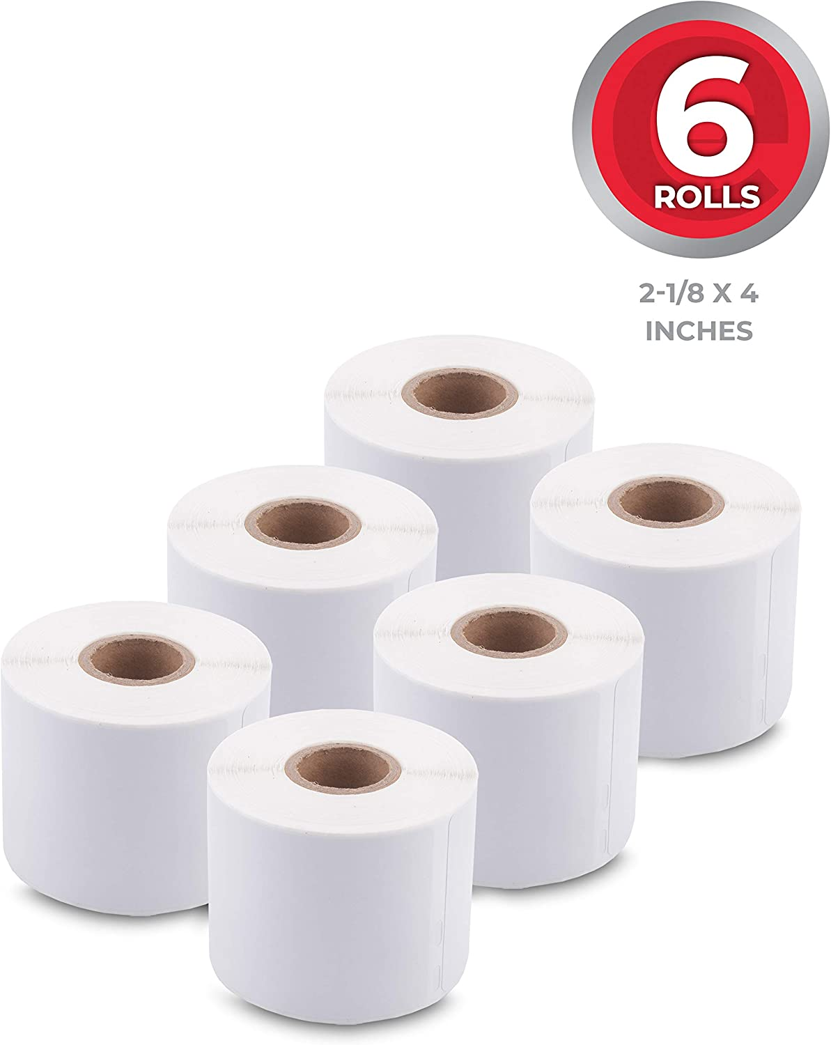 "enKo (6 Rolls, 1320 Labels) Address & Shipping Labels 30323 (2-1/8 x 4"") Compatible for Dymo LabelWriter : Office Products"