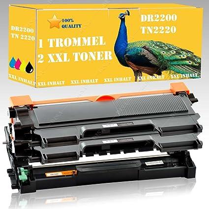2 Toner tn2220 + Carga DR2200 compatible para Brother MFC 7360/MFC ...