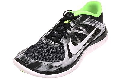 Nike Mens Free 4.0 V4, ANTHRACITE  WHITE - BLACK - ELECTRIC GREEN, 9