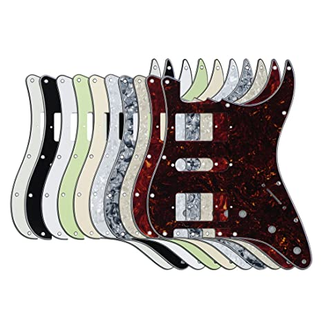 FLEOR HSH estilo placa de Scratch Guitarra golpeadores para Fender guitarra eléctrica de repuesto, 10pcs