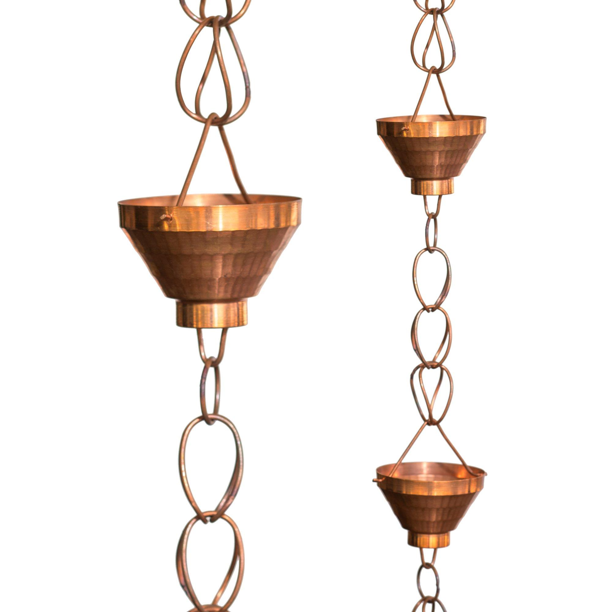 Monarch Pure Copper Siam Rain Chain, 8.5 ft