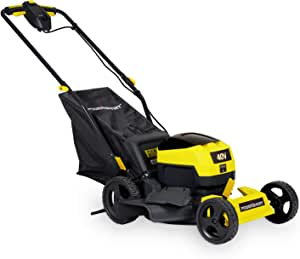 PowerSmart Lawn Mower, 17-inch Push Cordless Lawn Mower, 40V 4Ah Electric Powered Lawn Mower with 2800 RPM, 5 Adjustable Heights (1.18''-3.0'' ), Battery & Charger Included, PS76417
