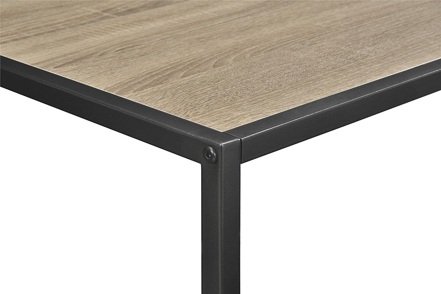 Steel Coffee Table Frame Amazoncom Altra Canton Coffee Table With Metal Frame Sonoma Oak