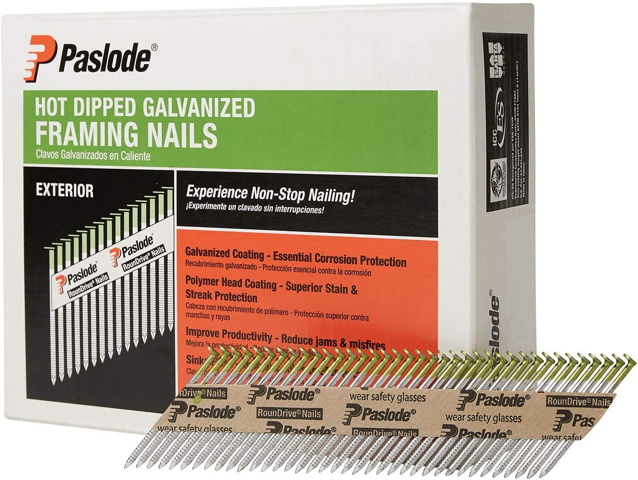 B00023SEFS Paslode - 650383 Round Head 2 3/8-Inch by .113 by 30 Degree Paper Collated Ring Shank Hot Dipped Galvanized Framing Nails for Framing Nailers (2,000 per Box) 71Gak1e9U3L