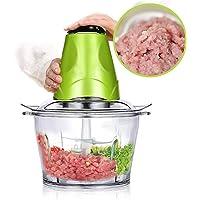 Food Chopper Electric Meat Grinder Machine Kitchen Aid Mini Food Processor 2L BPA-Free Glass Bowl Grinder for Meat…