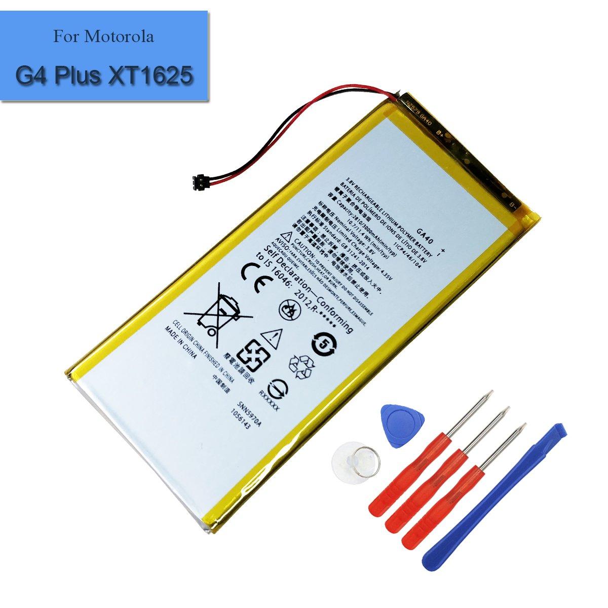 Bateria Celular para MOTOROLA G4 Plus XT1625 XT1643 XT1644 2810mAh 3.8V GA40 SNN5970A con Herramientas