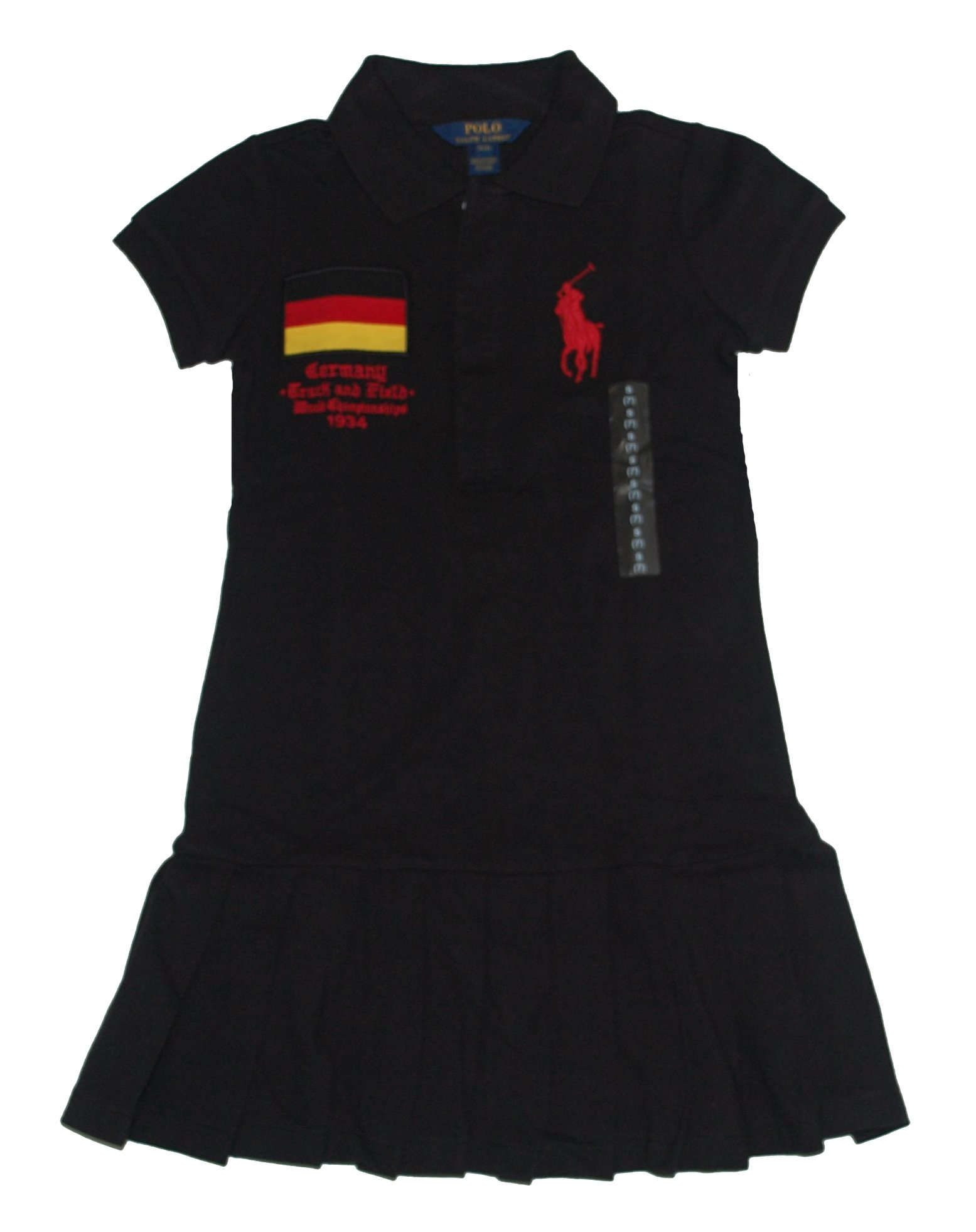 Ralph Lauren Girls Track and Field Country Germany Big Pony Polo Dress S 7