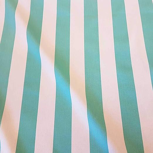 Werthers Stoffe Tela de algodón por Metros, Rayas de Color ...