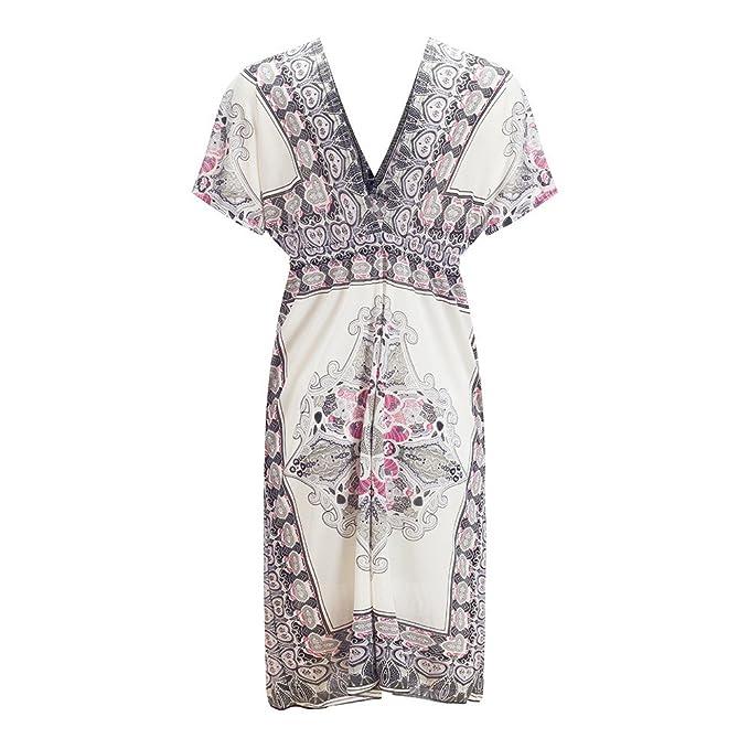 Beauty7 Kimono Vestidos Blusa Espuma de Poliuretano Algodón de Seda del Hielo Faltas La Playa Cubre