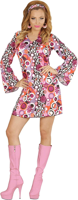 WIDMANN Disfraz de adultos Groovy, mini vestido años 70: Amazon.es ...
