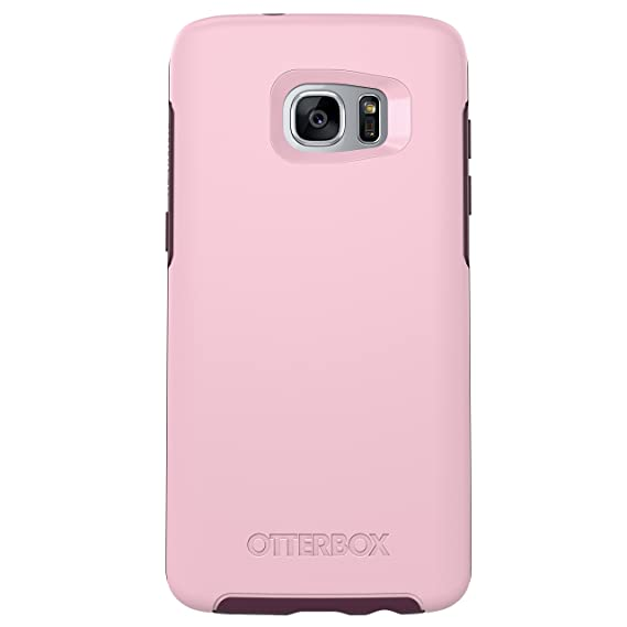 best loved 3d577 40a70 OtterBox SYMMETRY SERIES Case for Samsung Galaxy S7 Edge - Retail Packaging  - ROSE (BUBBLEGUM PINK/MERLOT PURPLE)