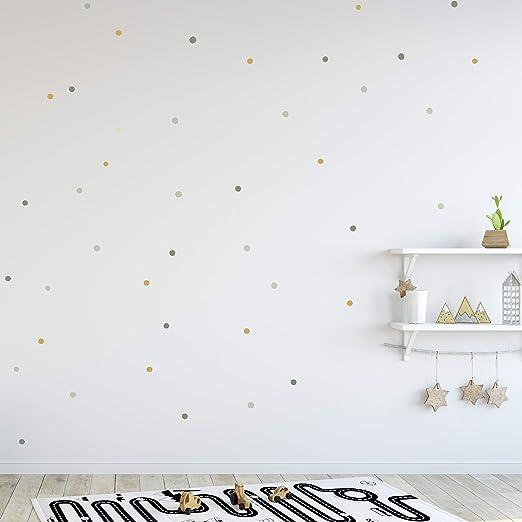 Pegatinas y Vinilos para Decoración de Pared | Puntos Círculos Imperfectos | Adhesivos decorativos Nórdico Infantil | 75uds | Verdes: Amazon.es: Bricolaje y herramientas