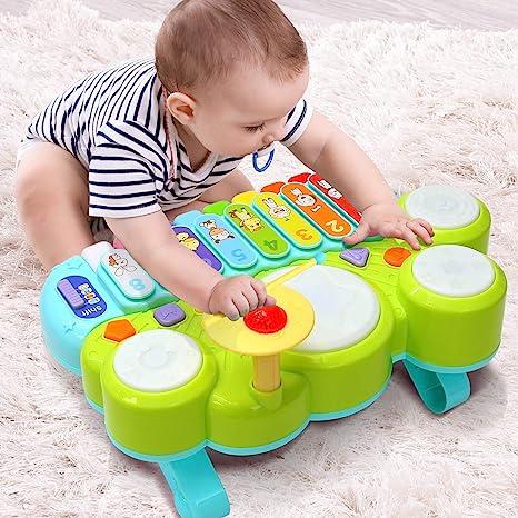 Juguete Musical del Bebé Ohuhu. Mesa multifunción para niños, con ...