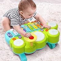 Ohuhu Juguete Musical del Bebé Mesa multifunción para niños, con Juegos de Tambor, Teclado de Piano para Descubrir y…