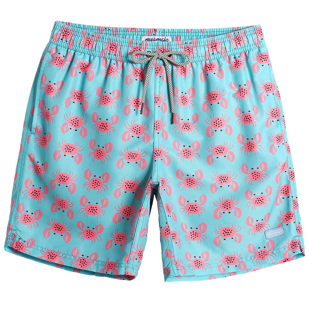 3fed6a2997eda slim fit design  one size up is recommanded if you prefer a looser fit. Mens  Swim Trunks  This Crab Bathing Suits For Men Get 5 Size  S M L XL XXL Swim  ...