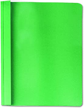 Universal Clear Front Report Cover Tang Fasteners Letter Size Green 25//Box 57124