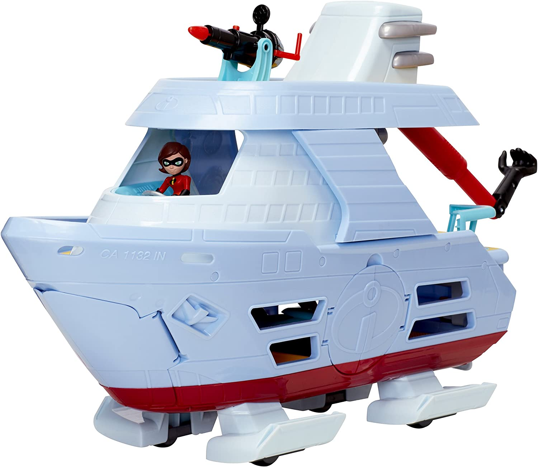 Jakks Disney Pixar Incredibles 2 Hydroliner Boat Action Playset Action Figures